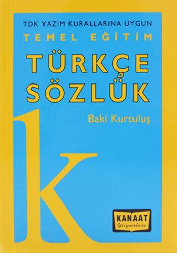 Temel Eğitim Türkçe Sözlük - Baki Kurtuluş