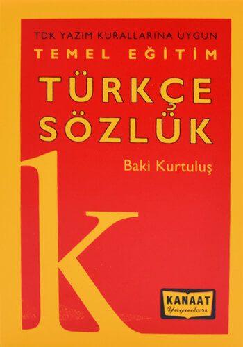 Temel Eğitim Türkçe Sözlük - 2 - Baki Kurtuluş